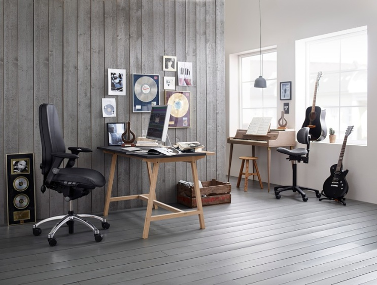 RH Logic leather desk chair - tips for designing your home office for working from home