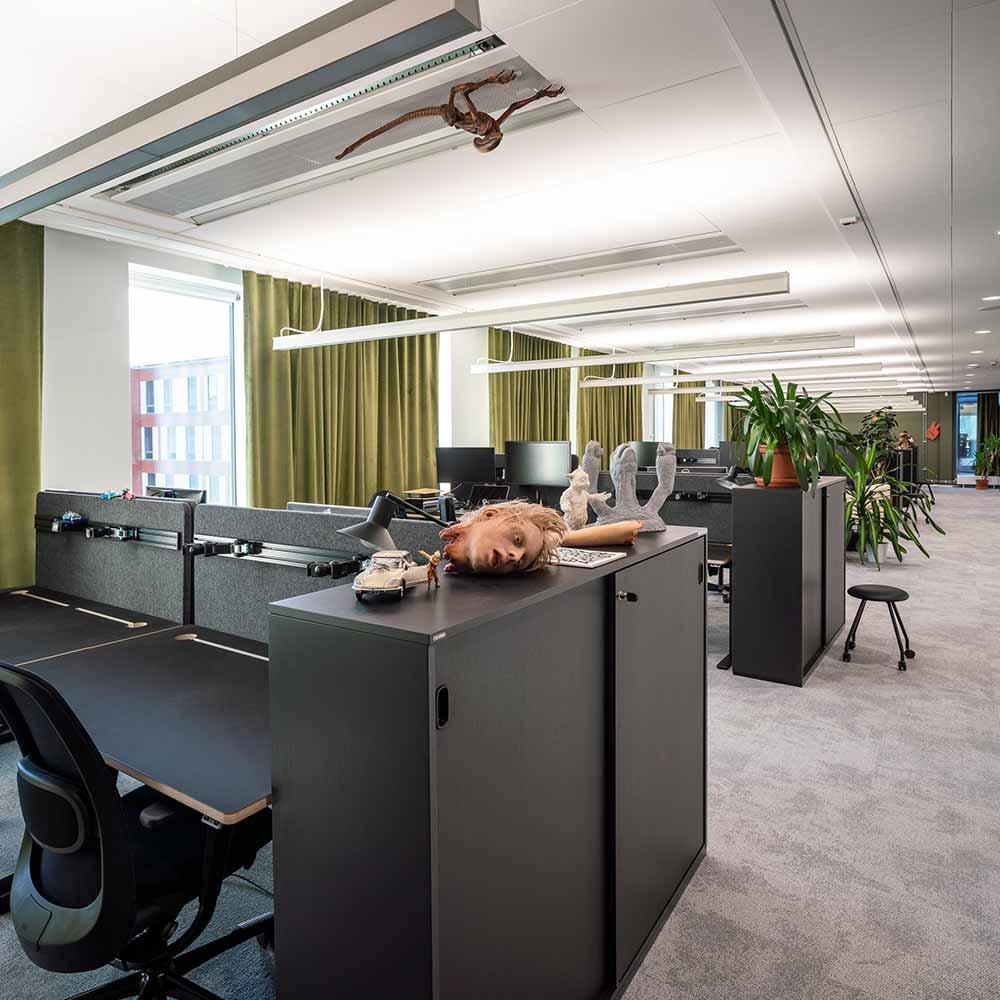 Goodbye kansas workspace featuring HÅG SoFi Chairs
