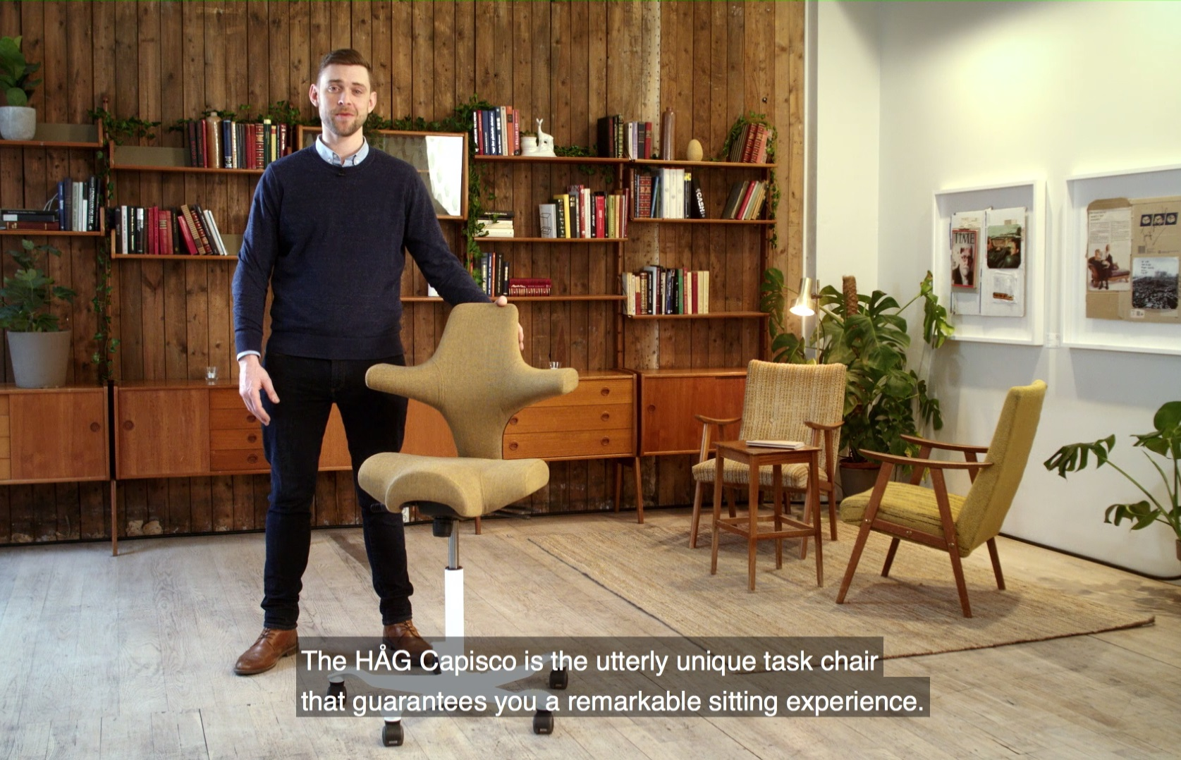 HÅG Capisco video about the qualities of the ergonomical design behind desk chair