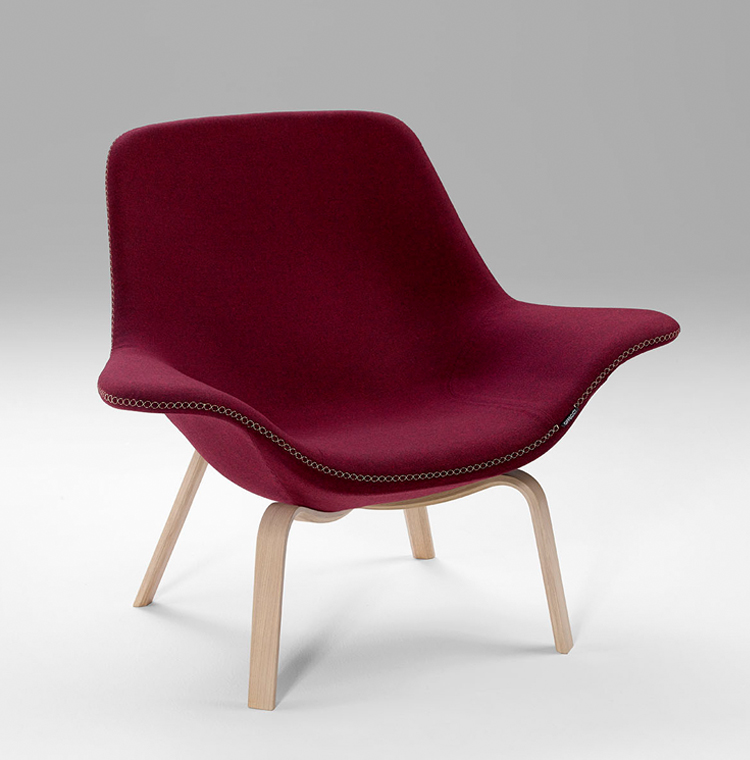Oyster by OFFECCT chair in red