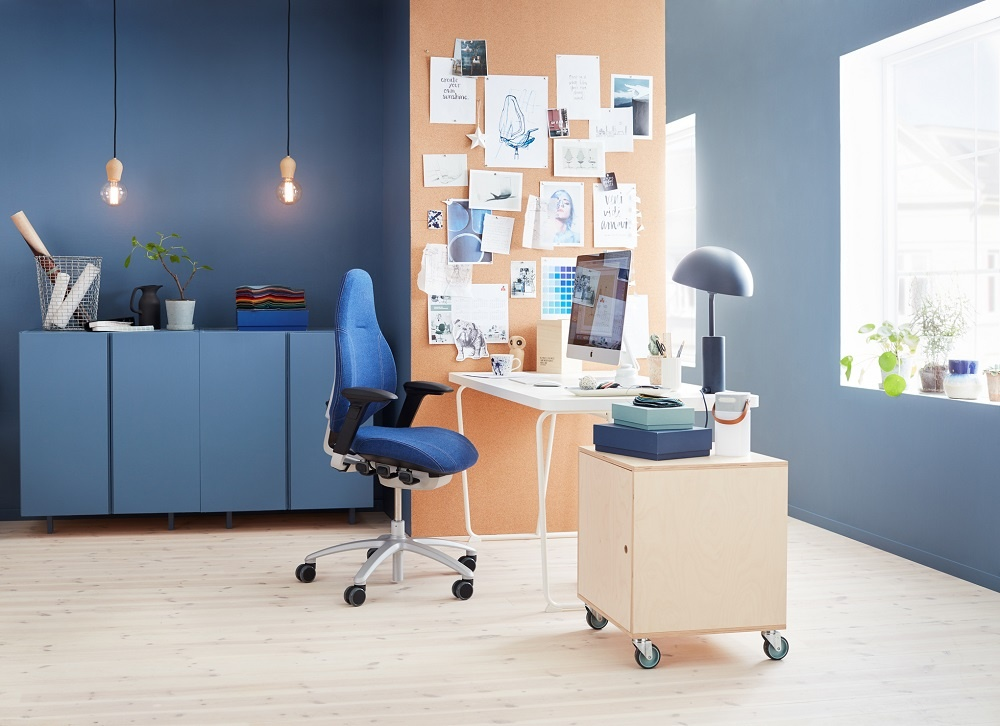 RH Mereo - a blue office chair for home office when working from home