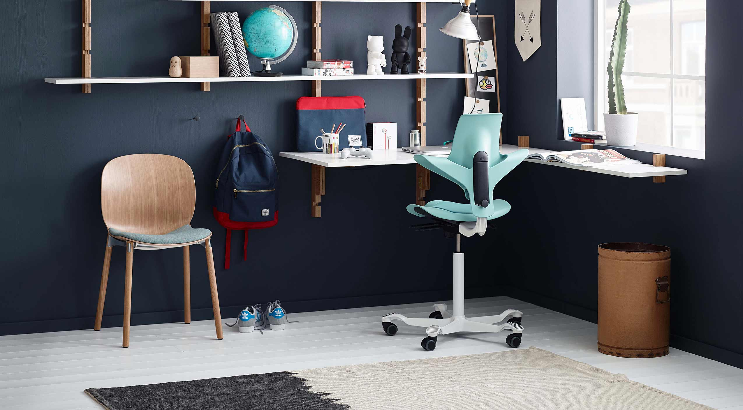 Design tips for creating a home office - HÅG Capisco chair and RBM Noor