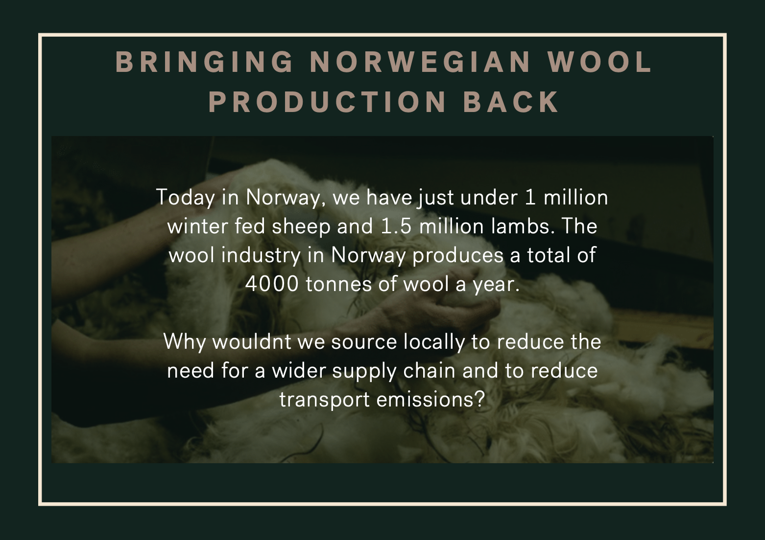 infographic on how flokk use norwegian wool in their fabric production to create sustainable office furniture
