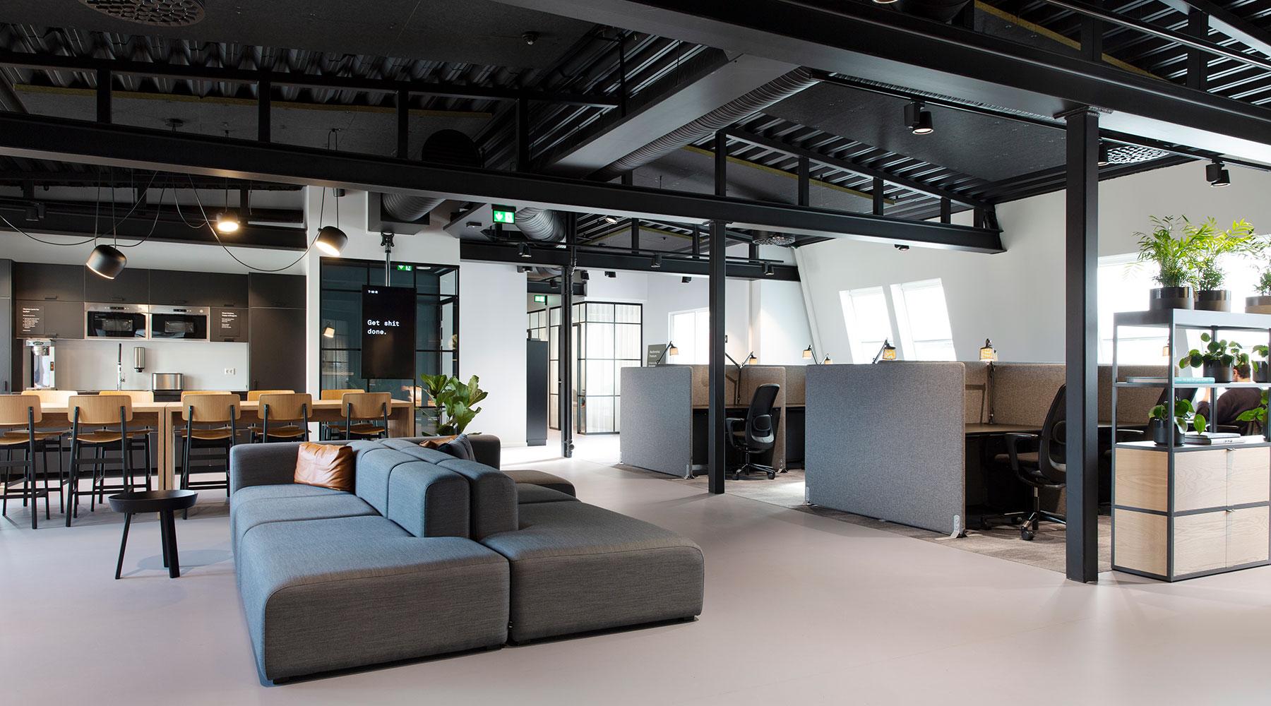co-work open plan office Tower Bergen in Norway