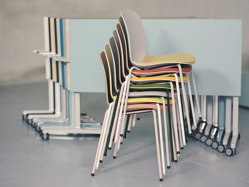 RBM Noor stackable and u-Connect foldable table and chairs